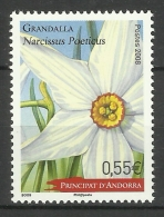FRENCH ANDORRA 2008  FLOWER MNH - Ongebruikt