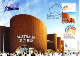 Australia 2010 Maxicard Scott #3262 55c Australian Pavilion - Expo 2010 Shanghai - Maximumkarten (MC)