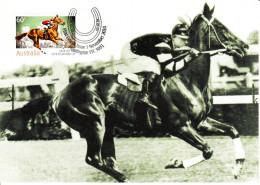 Australia 2010 Maxicard Scott #3380 60c 'Phar Lap' 1930 Winner - 150th Anniversary - Maximumkarten (MC)