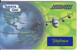 ARGENTINA - Aerolineas Argentinas, Telefonica Global Prepaid Card, 12/99, Used - Vliegtuigen