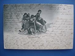 (Chamonix, Aline Couttet) Une Partie De Luge, 1902. - Chamonix-Mont-Blanc