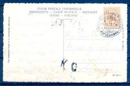 1918 , FINLANDIA , TARJETA POSTAL CIRCULADA , MARIEHAMM - ESTOCOLMO , YV. 70