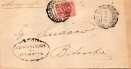 1923  LETTERA CON ANNULLO GIULIANOVA TERAMO - Storia Postale