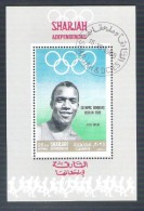Souvenir Sheet Jesse Owens Olympic Games Berlin 1936 Emirates SHARJAH UAE 1968