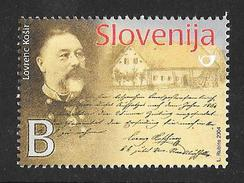 Slovenia: 2004 Lovrenc Kosir Postage Stamp Pioneer MNH - Slovénie