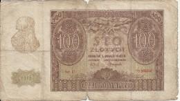 POLOGNE 100 ZLOTYCH 1940 VG P 97 - Polonia