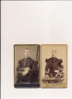 Lot De 2 CDV Photo Photographe THIRIOT / ODINOT à NANCY 54 Militaire Régiment 37 / 69 E épée Sabre  ( Recto Verso ) - Guerre, Militaire