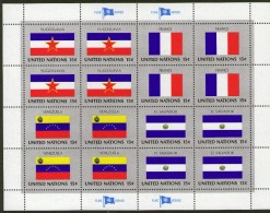 UNITED NATIONS, 1980 FLAG SERIES SHEET 16 MNH - New York – UN Headquarters