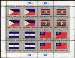 UNITED NATIONS, 1982 FLAG SERIES SHEET 16 MNH - New York – UN Headquarters