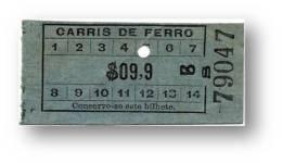 Carris De Ferro - $09,9 - Tramway Ticket - Serie Bs - Lisboa Portugal - Tranvías