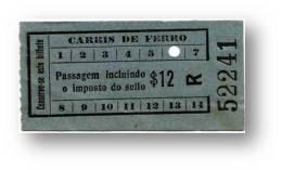 Carris De Ferro - $12 - Tramway Ticket - Serie R - Lisboa Portugal - Tranvías