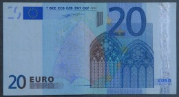 Netherlands - P - 20 Euro - G001 - P01852022692 - Duisenberg - Circulated - EURO