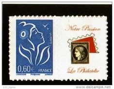 LAMOUCHE 3966Aa 0,60 BLEU  ADHESIF LOGO PASSION COTE 14 EUROS SUR YVERT 2018 - France