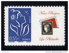 LAMOUCHE 0.55 BLEU ADHESIF LOGO PASSION LUXE COTE 50 EUROS SUR YVERT 2018 N° 3802Da - France
