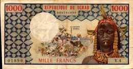 TCHAD Chad 1000 FRANCS De 1974-78nd Pick 3a  RARE - Chad