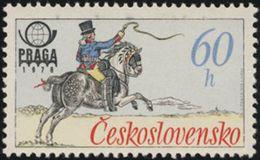 Czechoslovakia / Stamps (1977) 2253: Historical Postal Uniforms (French Postilion) PRAGA 1978; Painter: Karel Toman