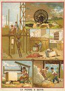 Chromo, Eléments Et Techniques: La Pierre à Bâtir - Lithographie: Lith. Vieillemard Et Ses Fils - Cromo