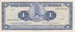 BILLETE DE NICARAGUA DE 1 CORDOBA DEL AÑO 1962 (BANK NOTE) - Nicaragua