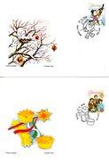 SLOVENIE. N°550-1 De 2006 Sur 2 Enveloppes 1er Jour. Noël/Nouvel An/Pie. - Natale