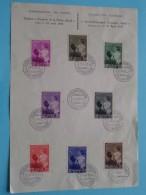 Aandenkingszegels Koningin ASTRID Uitgegeven Op 15 April 1937 ( Zie Details Op Foto ) ! !! - Cartes Souvenir