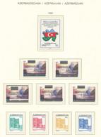 AZERBAIJAN - NEAR COMPLETE YEARS 1992-96 ON SCHAUBEK ALBUM SHEETS - MNH ** - Azerbaïjan