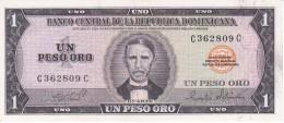 BILLETE DE LA REPUBLICA DOMINICANA DE 1 PESO ORO DEL AÑO 1975 DE DUARTE CALIDAD EBC (XF) (BANKNOTE) - República Dominicana