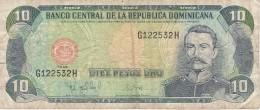 BILLETE DE REP. DOMINICANA DE 10 PESOS ORO DEL AÑO 1998  (BANKNOTE) - República Dominicana