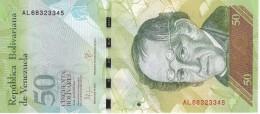 BILLETE DE VENEZUELA DE 50 BOLIVARES 23 DE JUNIO DEL 2015 SIN CIRCULAR-UNCIRCULATED  (BANK NOTE) OSO - Venezuela