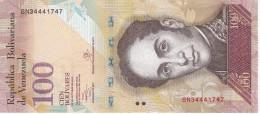 BILLETE DE VENEZUELA DE 100 BOLIVARES 29 DE OCTUBRE DEL 2013 SIN CIRCULAR-UNCIRCULATED  (BANK NOTE) PAJARO - Venezuela