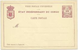 Belgian Congo 1897 Postal Stationery Correspondence Card