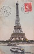 75 - PARIS - La TOUR EIFFEL - CACHET DU SOMMET DATEE DU 27 JUIN  1908 - Eiffelturm