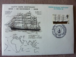 1969 CUTTY SARK CENTENARY Posted On Board - Poststempel