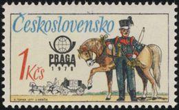 Czechoslovakia / Stamps (1977) 2254: Historical Postal Uniforms (Austrian Postilion) PRAGA 1978; Painter: Karel Toman