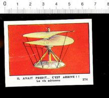 Chromo Chocolaterie De L´Union / La Vis Aérienne / Invention Aviation  (Léonard De Vinci) / IM 121/1 - Cigarrillos
