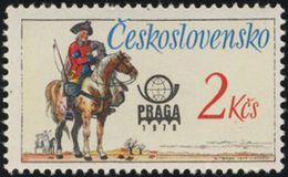 Czechoslovakia / Stamps (1977) 2255: Historical Postal Uniforms (Austrian Postilion) PRAGA 1978; Painter: Karel Toman