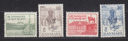 Denmark 1937 Silver Jubilee King Christian X 4v Mh (=mint,hinged) (33900) - 1913-47 (Christian X)