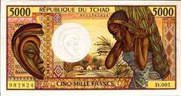 TCHAD Chad 5000 FRANCS De 1984-1991nd  Pick 11   UNC/NEUF - Chad