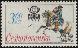 Czechoslovakia / Stamps (1977) 2256: Historical Postal Uniforms (German Postilion) PRAGA 1978; Painter: Karel Toman