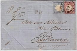 1873, 1 U. 2 Gr. Nach Italien , #6835 - Deutschland