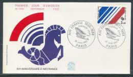 1983 Env 1er Jour N°1335 Aviation Air France - Paris - 1980-1989