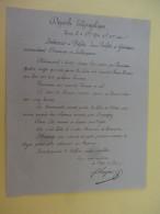 Depeche Telegraphique Tours 9bre 1870  Signe Beral Texte Interessant - Marcophilie (Lettres)