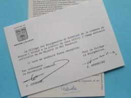 SM Le Roi BAUDOUIN 1930-1993 + OFFRIR L'Image Mortuaire à Le Collège De BRAINE-L'ALLEUD ( Zie Foto Voor Detail ) !! - Königshäuser