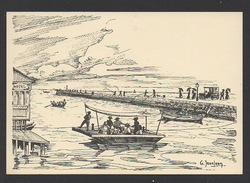 DF / 34  HERAULT / PALAVAS LES FLOTS / DESSIN DE G. JEANJEAN : LE CANAL ET LE BAC - Palavas Les Flots