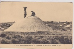 """85 VENDEE SABLES D'OLONNE LES MARAIS SALANTS   """"  Transport Du Sel Sur Le Mulon """" LL N° 8 - Sables D'Olonne"""