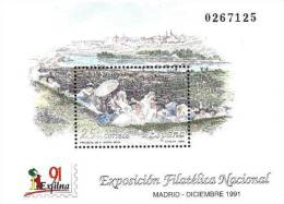 ESPAÑA 1991 - EXPOSICION FILATELICA EXFILNA´91  - Edifil Nº 3145 - Yvert Nº 2753 Block 47 - 1991-00 Unused Stamps