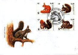 SLOVENIE. N°583-6 De 2007 Sur Enveloppe 1er Jour. WWF Ecureuil. - Rongeurs