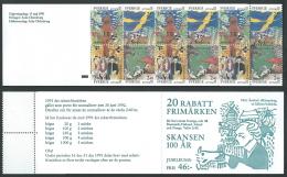1991 SVEZIA LIBRETTO PARCO DI SKANSEN A STOCCOLMA MNH ** - A1 - Cuadernillos/libretas