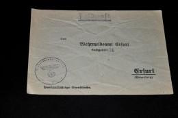 254- Umschlag  Wehrmeldeamt Erfurt Mit Adelarstempel - Allemagne