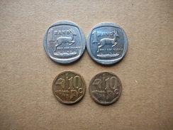 South Africa 10 Cents,1 Rand 1994-2010 (Lot Of 4 Coins) - Afrique Du Sud