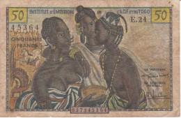 BILLETE DE TOGO DE 50 FRANCS DEL AÑO 1956 (BANK NOTE) - Togo